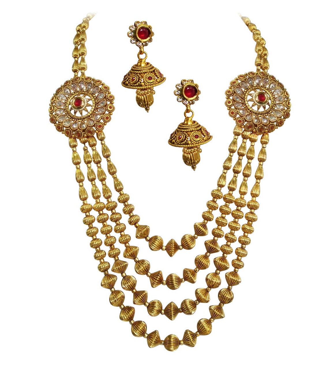 Gold Plated Jewellery Mini Bridal Set HM4