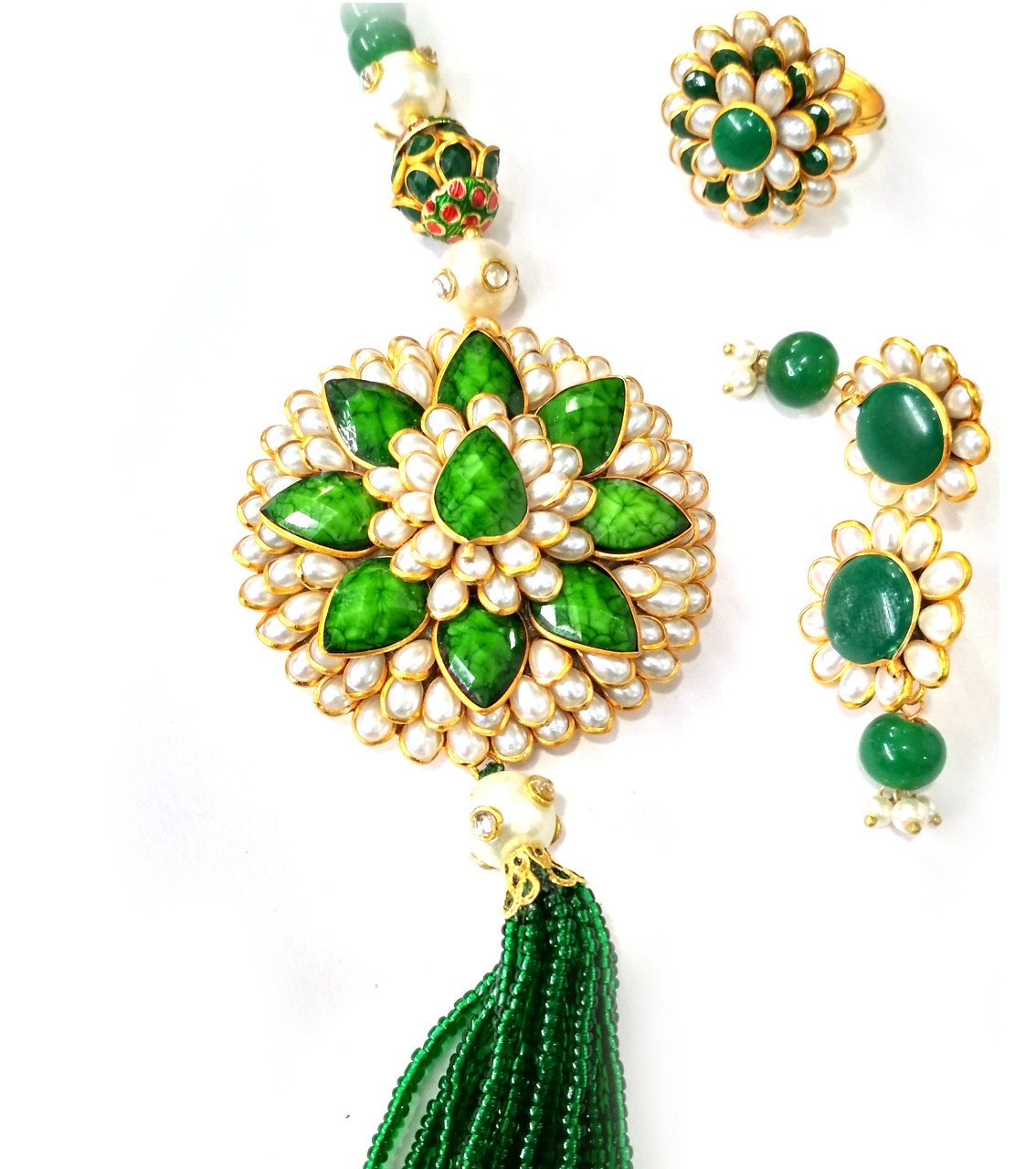 Combo Necklace Set with Jaipuri Style 02