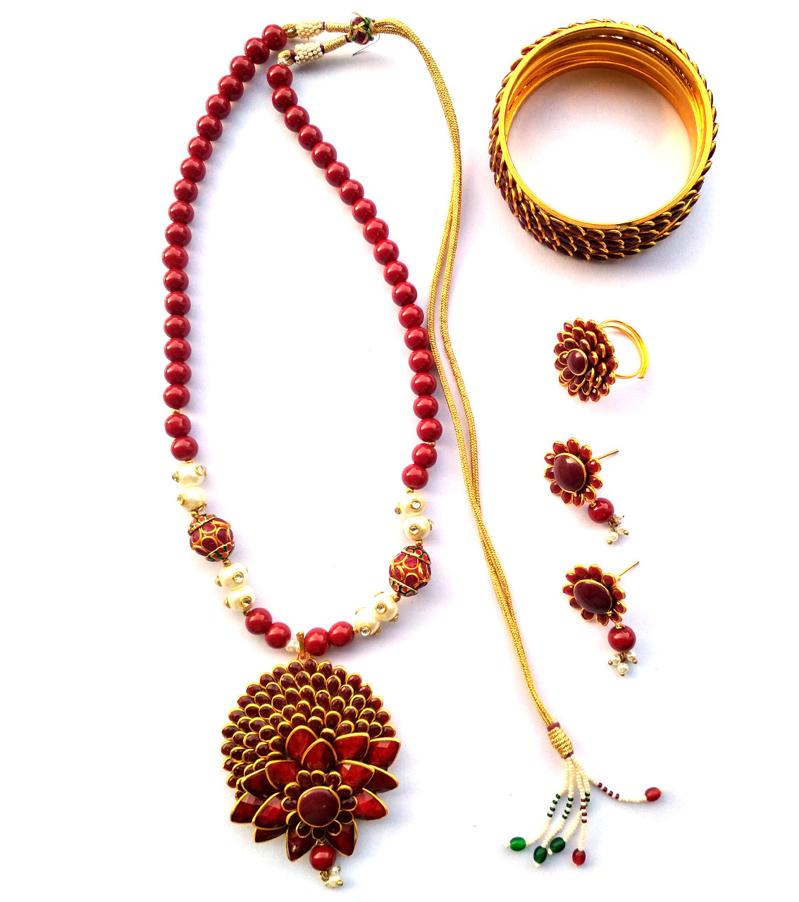 Combo Necklace Set with Jaipuri Style 06