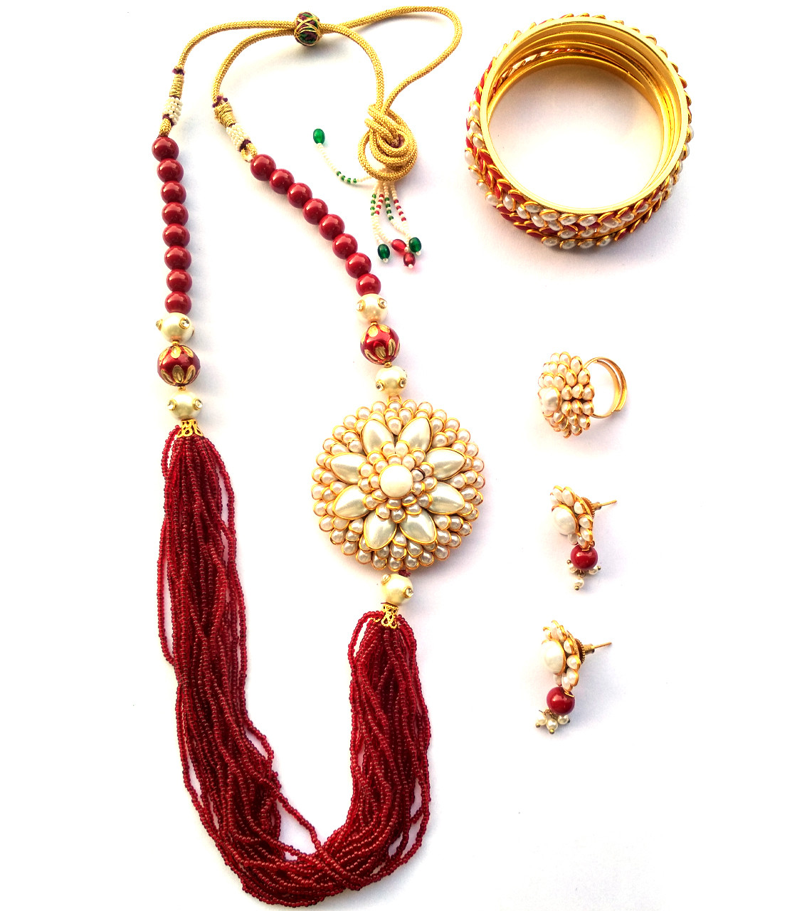 Combo Necklace Set with Jaipuri Style 09