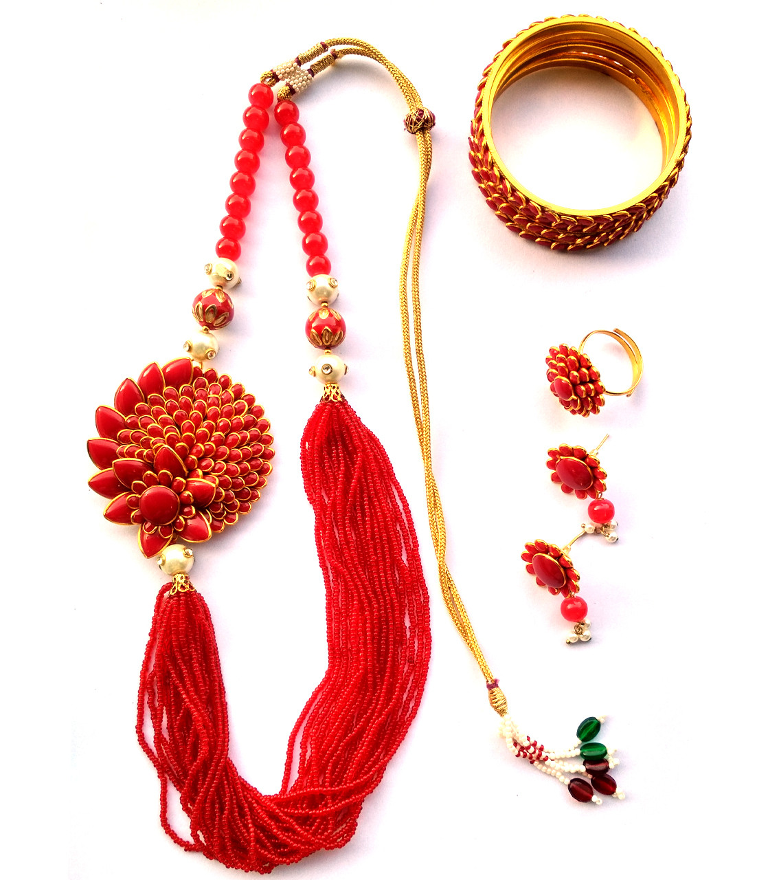 Combo Necklace Set with Jaipuri Style 10