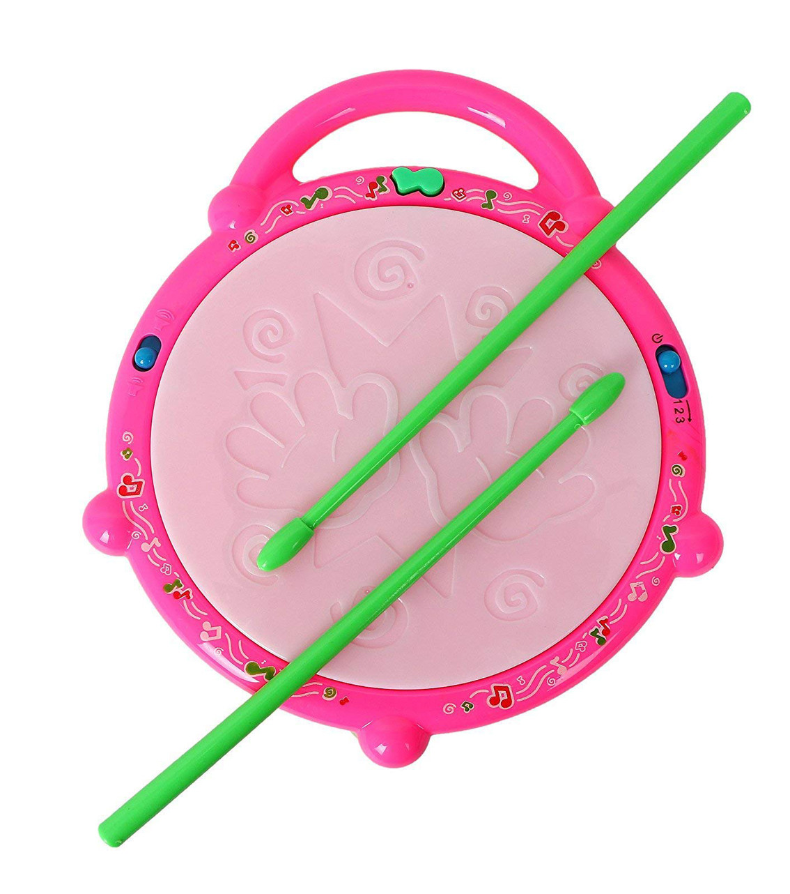 Battery Operated Musical Flash Drum for Kids