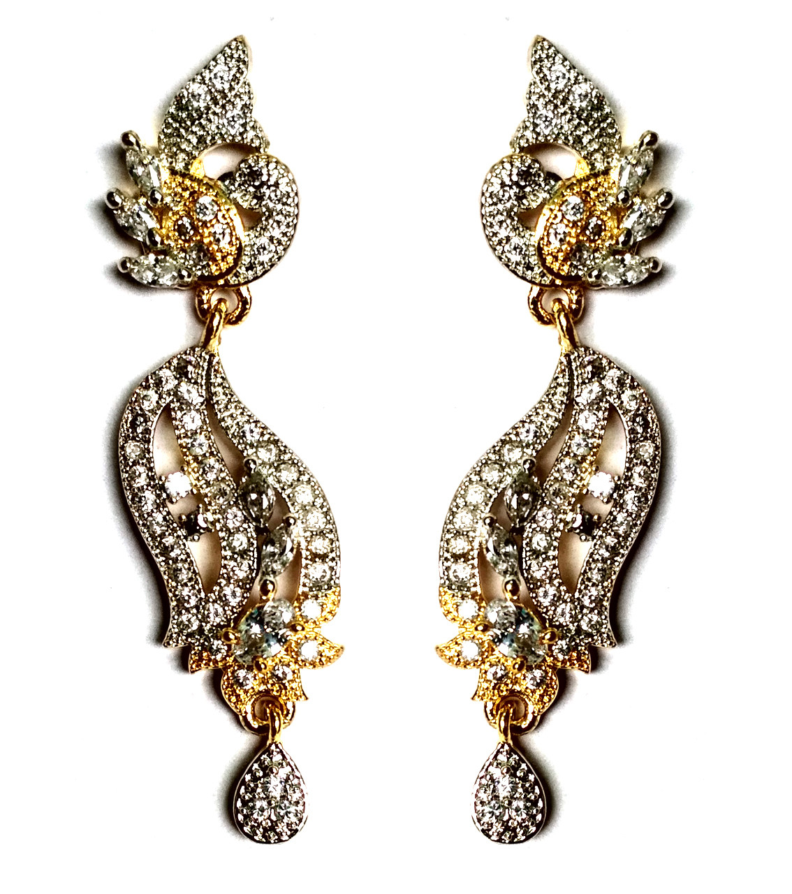 American Diamond Earrings From Kolkata For Woman & Girls HM07