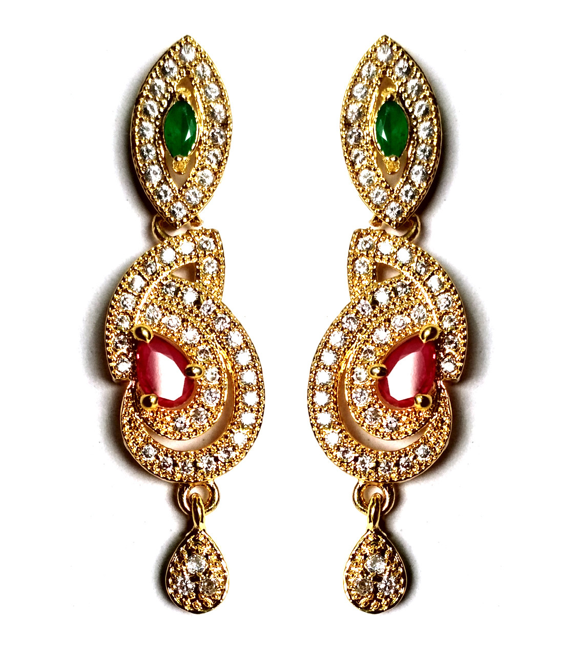 American Diamond Earrings From Kolkata For Woman & Girls HM08