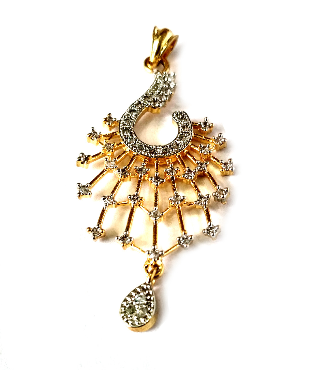 American Diamond Pendant Set With Earrings For Woman & Girls HM017