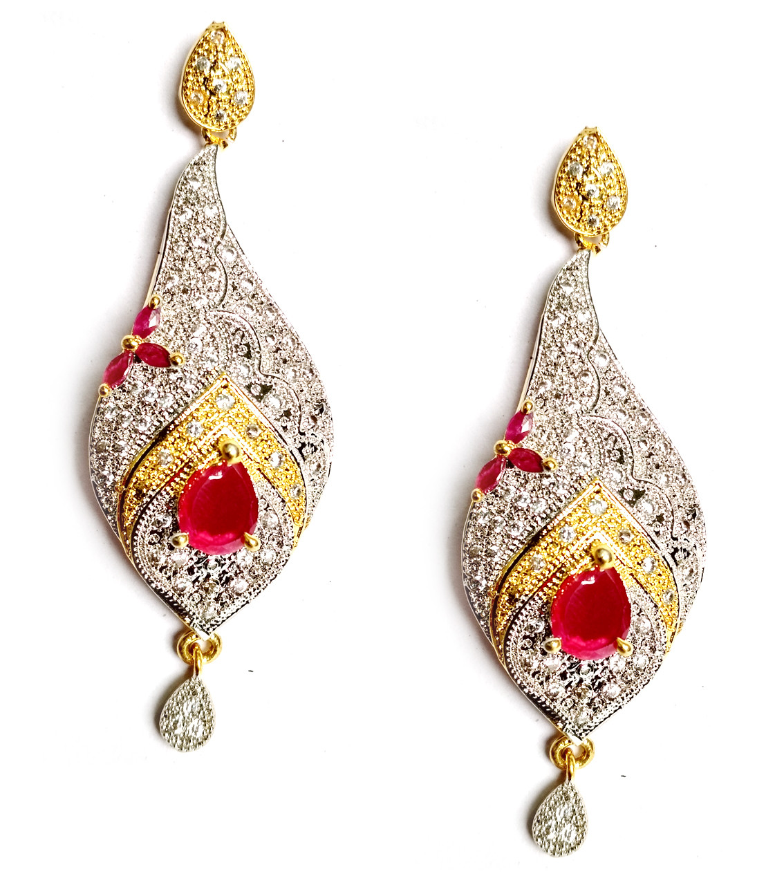 American Diamond Earrings From Kolkata For Woman & Girls HM02
