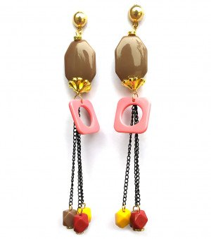 Long earrings latest for woman & Girls Square Design 2XX
