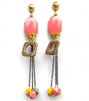Long earrings latest for woman & Girls Square Design 2x