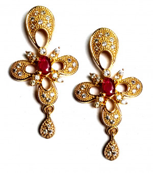 American Diamond Earrings From Kolkata For Woman & Girls