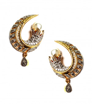 American Diamond Earrings From Kolkata For Woman & Girls HM04