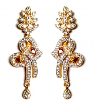 American Diamond Earrings From Kolkata For Woman & Girls HM05