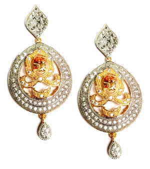 American Diamond Earrings From Kolkata For Woman & Girls HM06