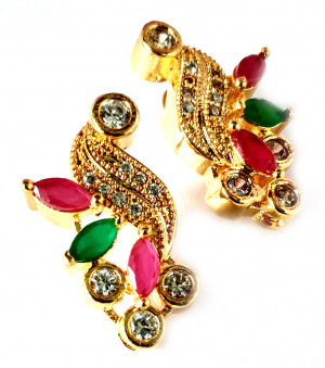 American Diamond Earrings From Kolkata For Woman & Girls HM09