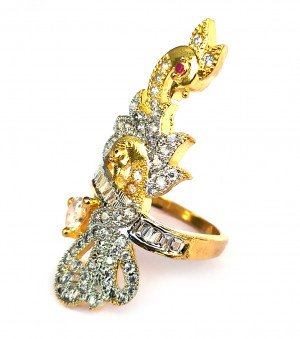 American Diamond Ring for Women/Girls 18X