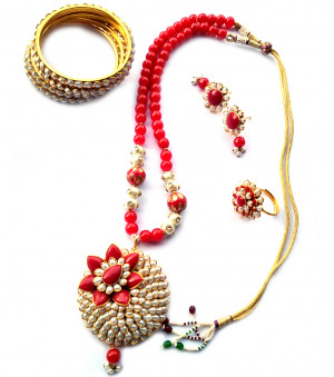 Combo Necklace Set with Jaipuri Style 05