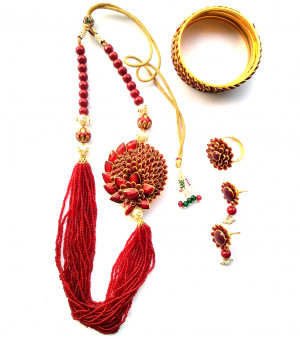 Combo Necklace Set with Jaipuri Style 07