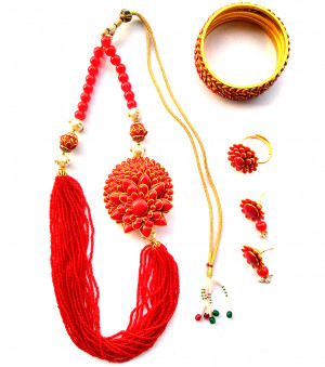 Combo Necklace Set with Jaipuri Style 08