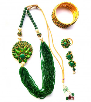 Combo Necklace Set with Jaipuri Style 11