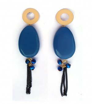 New western earrings for woman & Girls Blue color