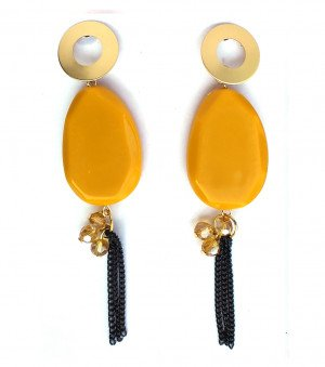 western earrings for woman & Girls Yellow color