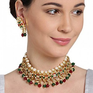 Multi Color Kundan Choker Necklace Set