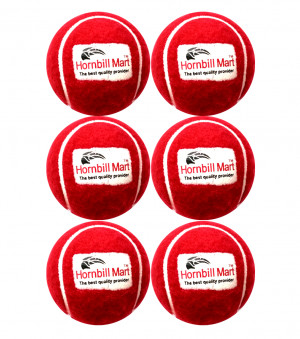 Tennis Cricket Ball Hornbill Mart Pack of 6 Balls