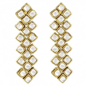 Kundan Long Earrings For Woman & Girls